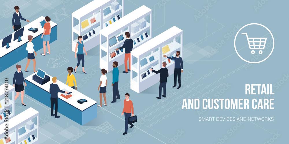 Fototapeta Retail and customer care