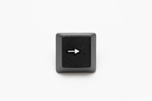 Single Black Keys Of Keyboard With Different Letters Right Arrow