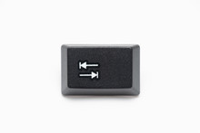 Single Black Keys Of Keyboard With Different Letters Tab
