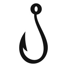 Summer Fishing Hook Icon. Simp...