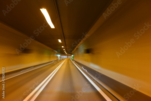 Poster Tunnel Autotunnel im Kanton Wallis - Schweiz