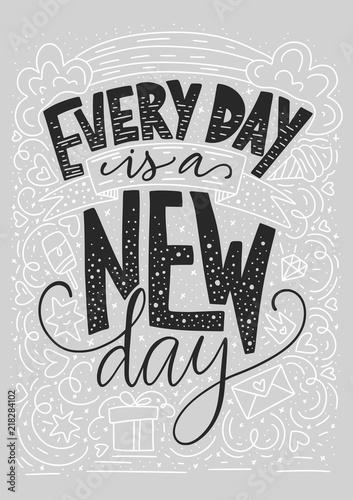 codziennie-jest-nowy-dzien-pozytywna-inspiracyjna-wektorowa-literowanie-karta