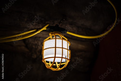 Lamp in the underground cave