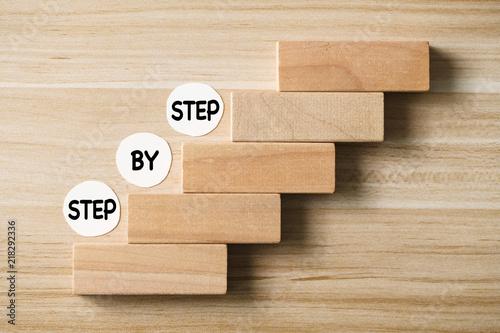 Fotografie, Obraz  Step By Step Concept