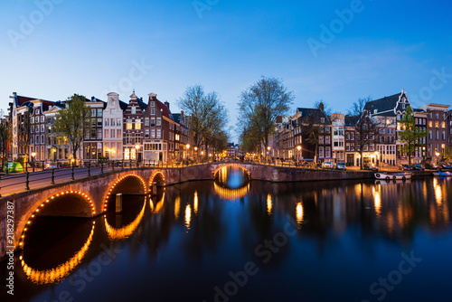 Fototapeta Amsterdam amsterdam-noca