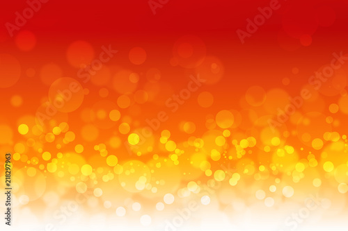 Fototapety, obrazy: beautiful red and orange with bokeh background or wallpaper