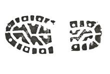 Shoe Print Isolated On White Background
