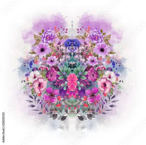 красочные бабочки в абстрактный фон брызг