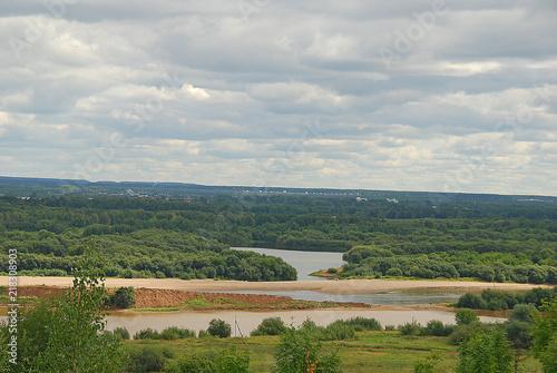 Spoed Foto op Canvas Khaki Vyatka river , landscape