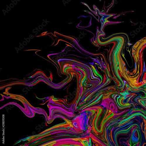 абстрактный волшебный красочный фон брызг