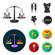 Lesbians, dress, balls, gay parade. Gay set collection icons in black,flat style vector symbol stock illustration web.