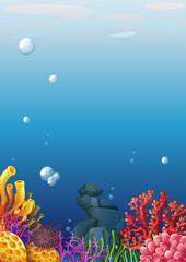 Fototapeta na wymiar A beautiful underwater view