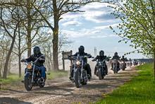 Bikers Arrive