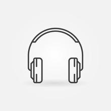 On-Ear Headphones Vector Minim...