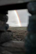 Rainbow Through A Gap In The W...