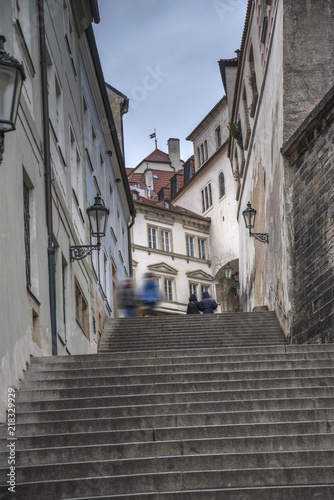 Fototapeta Praga schody-w-pradze