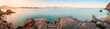 Panorama of the bay in Cabo San Lucas.