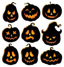 Pumpkin Silhouettes Theme Set 4