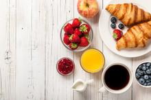 Breakfast With Croissants, Cof...