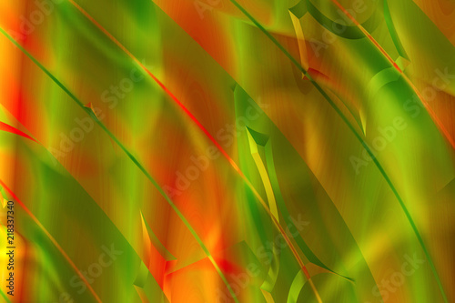 Abstract Background With Wave Line Pattern In Green And
