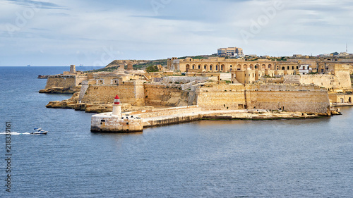Poster de jardin Fortification Fort Ricasoli in Malta