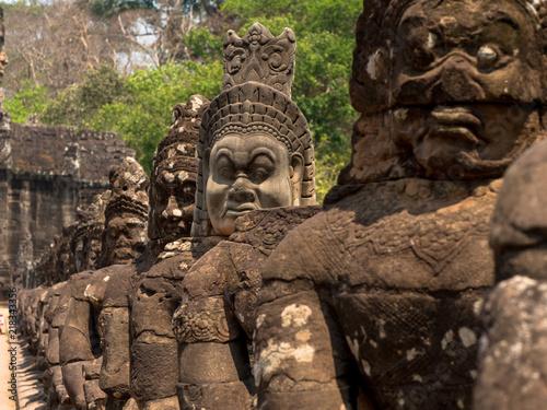 Foto  Tempelwächter in Angkor Thom, Kambodscha