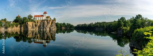 Fotografia Panorama der Bergkirche Beucha bei Brandis in Sachsen, Deutschland