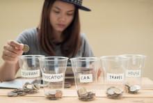 Women Saving Money For Future.