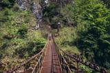 Bridge over River Hornad in park called Slovak Paradise, Slovakia