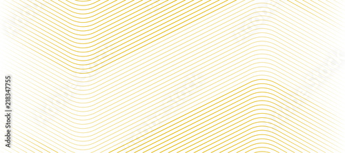 Carta da parati Vector Illustration of the gold pattern of lines abstract background