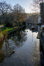 Reflections On The River Dart In Totnes