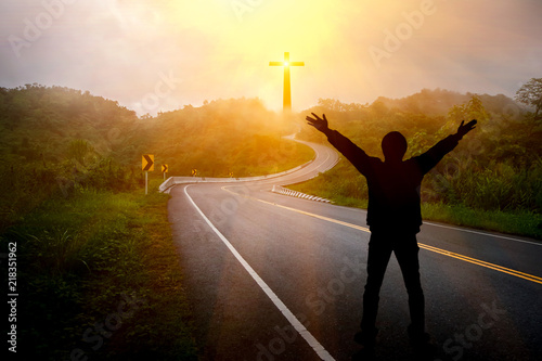 Obraz Conception Road to Christ and the Cross - fototapety do salonu