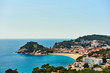 Vila Vella, the oldest part of the town of Tossa del Mar, Spain