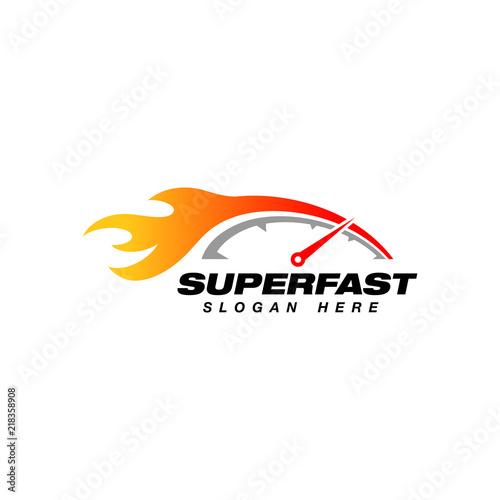 speedometer logo design template  speedometer vector icon