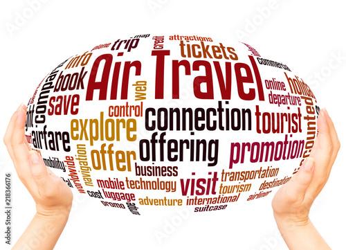 Fotografie, Obraz  Air Travel word cloud hand sphere concept