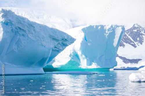 Fotobehang Midden Oosten ice in the Antarctica with iceberg in the ocean