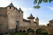 Carcassonne - a fortified French town in the Aude department, Region of Languedoc-Roussillon, France, Unesco site