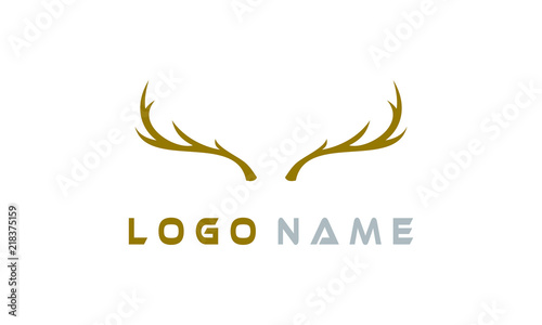 Canvas Print antler logo simple