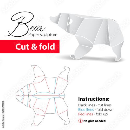 Origami polar bear by Quentin Trollip - YouTube | 500x500