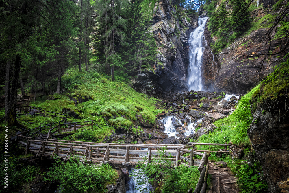 saent waterfall in trentino