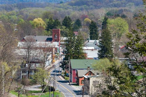 Fototapeta Aerial View of Rosendale, New York