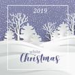 Winter landscape. Holiday Christmas background