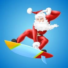 Babbo Natale Surf