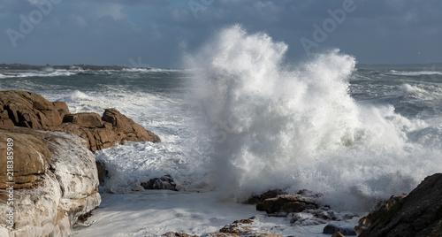 Valokuva  Sturm an der bretonischen Küste