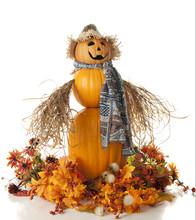 Colorful Pumpkin Scarecrow