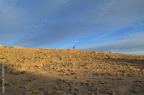 Fotografering  Israele tramonto nel deserto del Negev Mitzpe Ramon