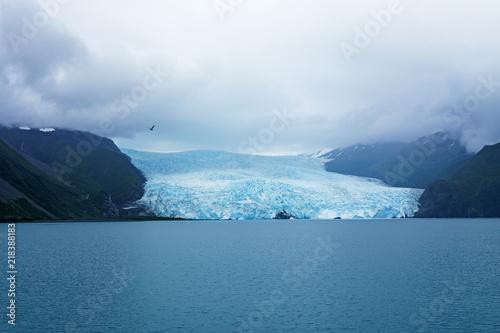 Fotografie, Obraz  Aialik glacier meeting the Aialik bay at Kenai Fjords National Park, Alaska
