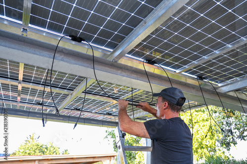 Mounting semi transparent moduls on Carport