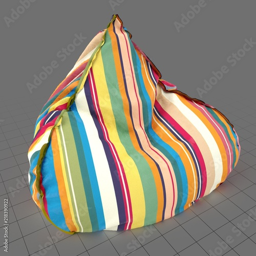 Brilliant Triangular Beanbag Chair Buy This Stock 3D Asset And Unemploymentrelief Wooden Chair Designs For Living Room Unemploymentrelieforg