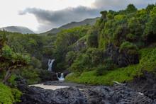 Seven Sacred Pools Waterfall O...